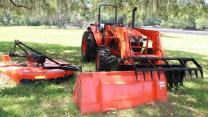 Bush Hog & Grapple Attachments for a Tractor