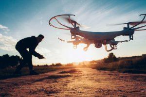 Drone flying with Bush Hog Gone Wild
